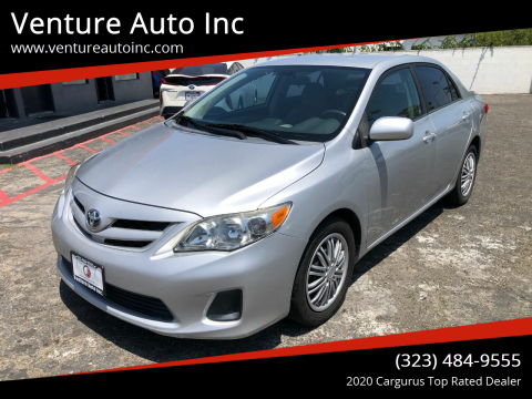 2012 Toyota Corolla for sale at Venture Auto Inc in South Gate CA