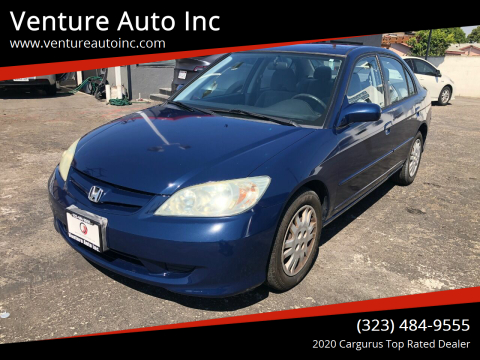 2004 Honda Civic for sale at Venture Auto Inc in South Gate CA