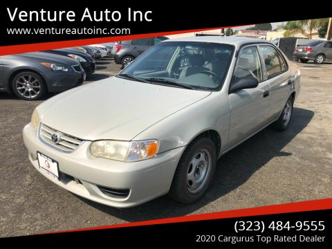 2001 Toyota Corolla for sale at Venture Auto Inc in South Gate CA
