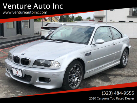 2002 BMW M3 for sale at Venture Auto Inc in South Gate CA