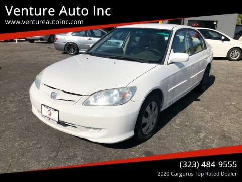 2005 Honda Civic for sale at Venture Auto Inc in South Gate CA