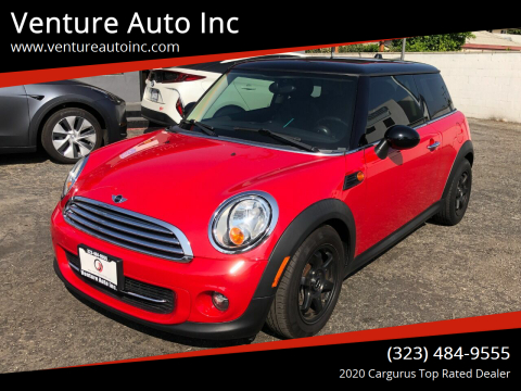 2012 MINI Cooper Hardtop for sale at Venture Auto Inc in South Gate CA