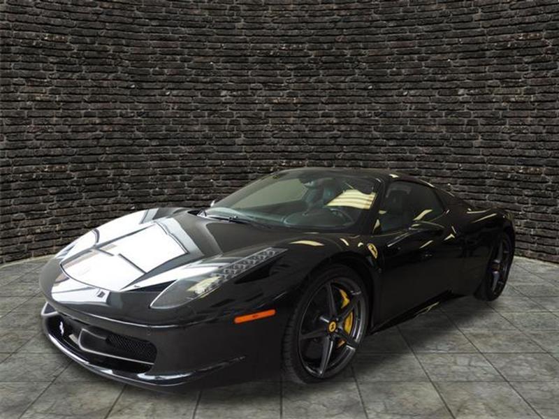 ferrari 2013 black. 2013 ferrari 458 spider 2dr convertible montclair nj black