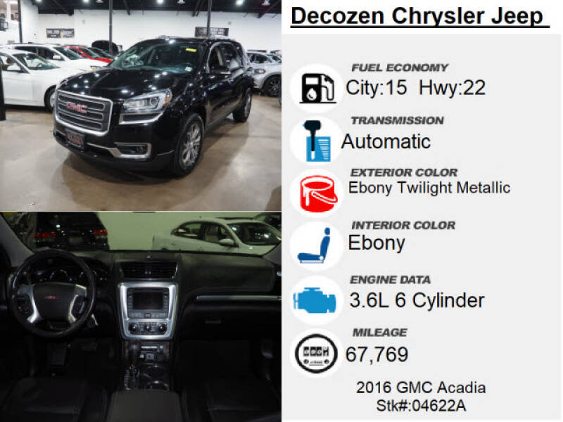 2016 GMC Acadia AWD SLT-2 4dr SUV - Montclair NJ