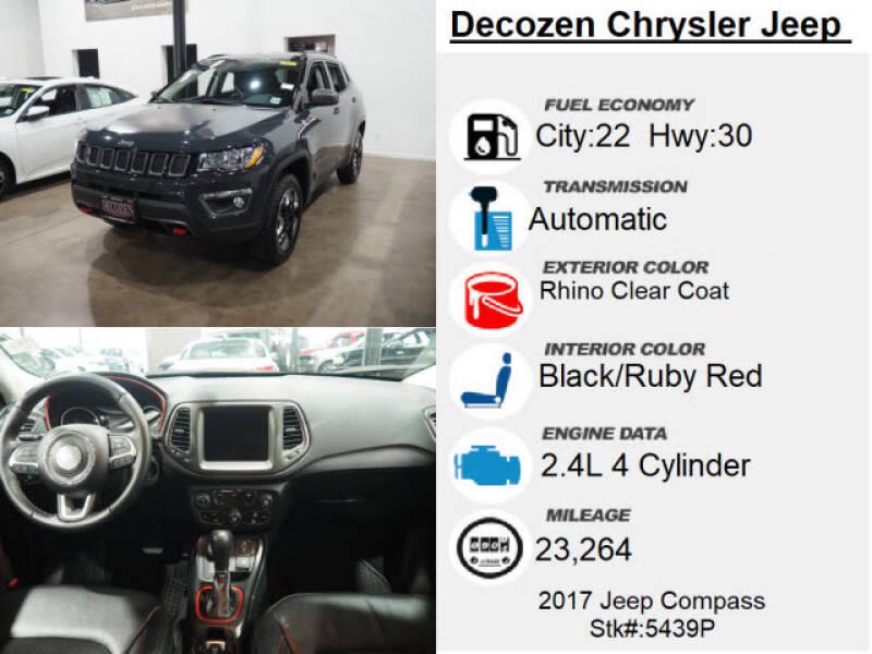 2017 Jeep Compass 4x4 Trailhawk 4dr SUV (midyear release) - Montclair NJ