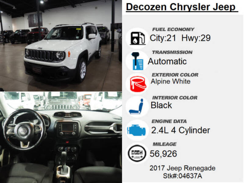 2017 Jeep Renegade 4x4 Latitude 4dr SUV - Montclair NJ