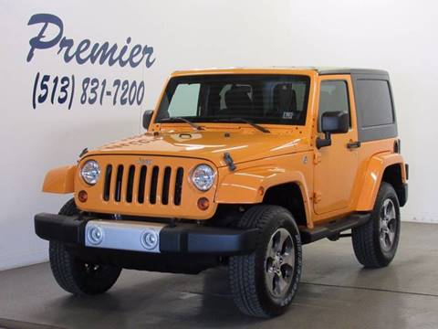 2012 Jeep Wrangler for sale at Premier Automotive Group in Milford OH