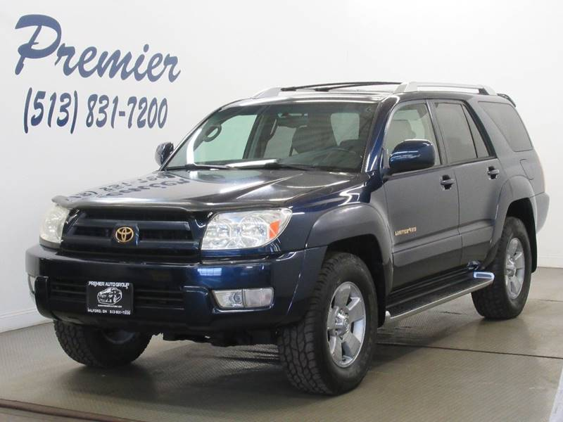 Toyota Runner Limited In Milford OH Premier Automotive Group - 2003 4runner
