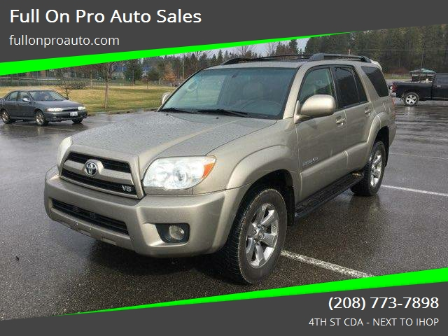2006 Toyota 4runner Limited 4dr Suv 4wd W V8 In Coeur D Alene Id