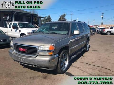 2001 GMC Yukon XL for sale in Coeur D'Alene, ID
