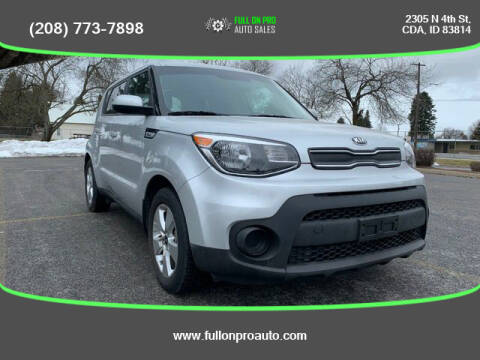 2017 Kia Soul for sale at Full On Pro Auto in Coeur D'Alene ID