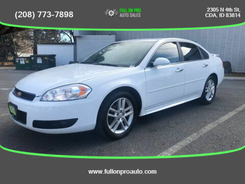 2013 Chevrolet Impala for sale at Full On Pro Auto in Coeur D'Alene ID