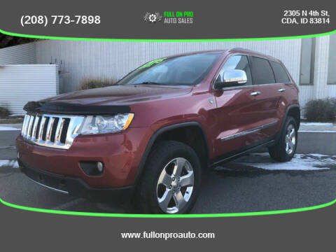 2011 Jeep Grand Cherokee for sale at Full On Pro Auto in Coeur D'Alene ID