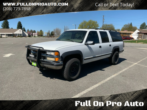 1998 Chevrolet Suburban for sale at Full On Pro Auto in Coeur D'Alene ID