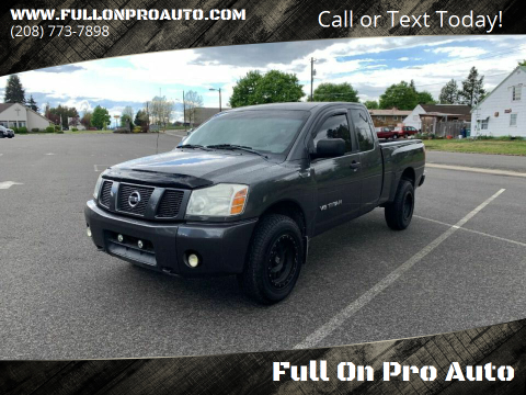 2005 Nissan Titan for sale at Full On Pro Auto in Coeur D'Alene ID
