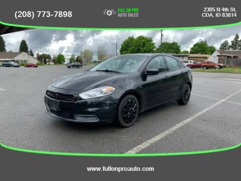 2016 Dodge Dart for sale at Full On Pro Auto in Coeur D'Alene ID
