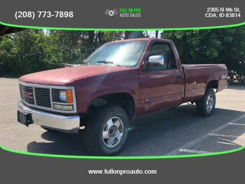1989 GMC Sierra 1500 for sale at Full On Pro Auto in Coeur D'Alene ID
