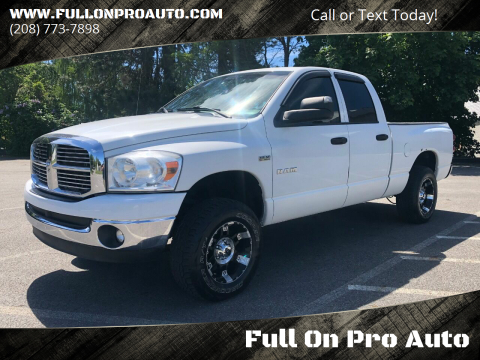 2008 Dodge Ram Pickup 1500 SLT for sale at Full On Pro Auto in Coeur D'Alene ID