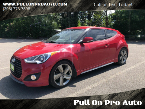 2015 Hyundai Veloster Turbo for sale at Full On Pro Auto in Coeur D'Alene ID