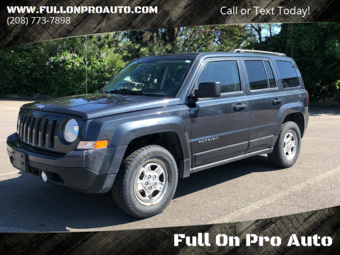 2014 Jeep Patriot for sale at Full On Pro Auto in Coeur D'Alene ID
