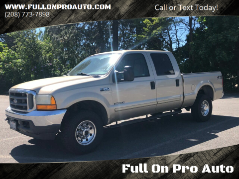 2001 Ford F-350 Super Duty XLT for sale at Full On Pro Auto in Coeur D'Alene ID