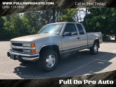 1999 Chevrolet C/K 1500 Series K1500 LS for sale at Full On Pro Auto in Coeur D'Alene ID