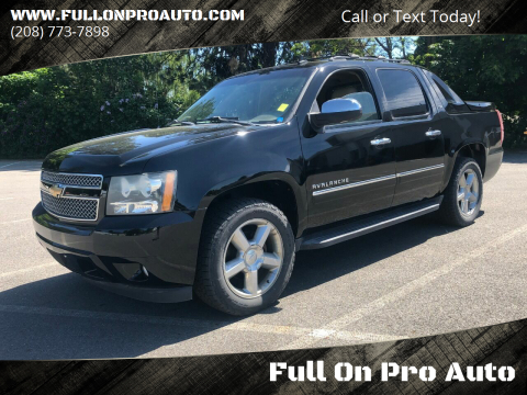 2011 Chevrolet Avalanche LTZ for sale at Full On Pro Auto in Coeur D'Alene ID