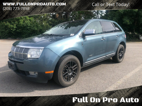 2010 Lincoln MKX for sale at Full On Pro Auto in Coeur D'Alene ID
