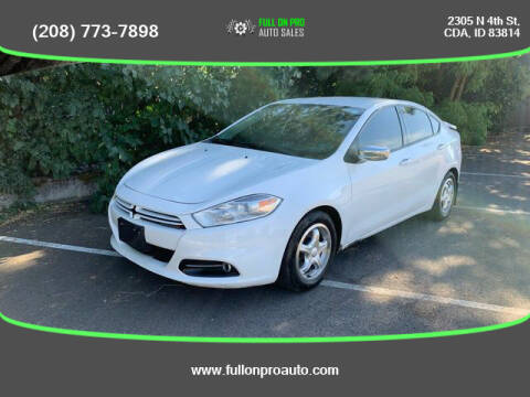 2013 Dodge Dart for sale at Full On Pro Auto in Coeur D'Alene ID