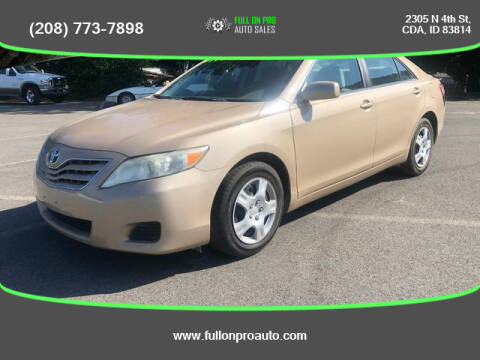 2010 Toyota Camry for sale at Full On Pro Auto in Coeur D'Alene ID