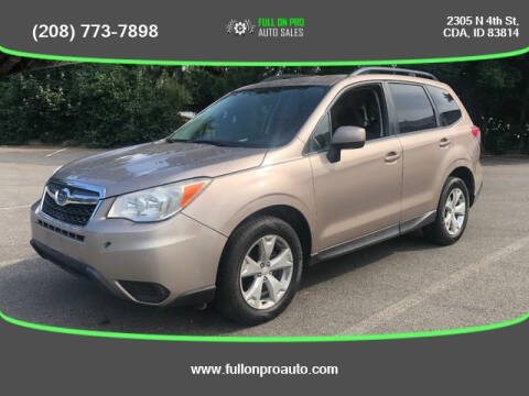 2014 Subaru Forester for sale at Full On Pro Auto in Coeur D'Alene ID