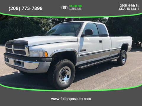 1998 Dodge Ram Pickup 2500 for sale at Full On Pro Auto in Coeur D'Alene ID