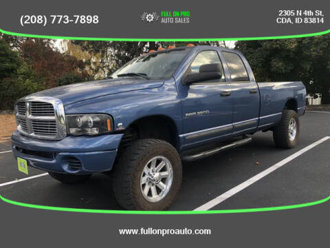 2004 Dodge Ram Pickup 3500 for sale at Full On Pro Auto in Coeur D'Alene ID