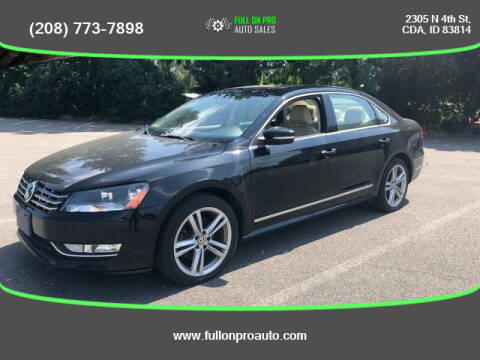 2014 Volkswagen Passat for sale at Full On Pro Auto in Coeur D'Alene ID