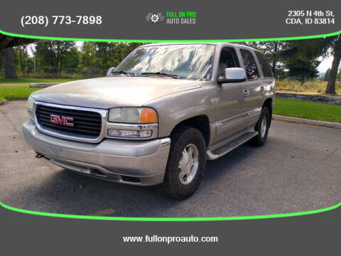 2002 GMC Yukon for sale at Full On Pro Auto in Coeur D'Alene ID