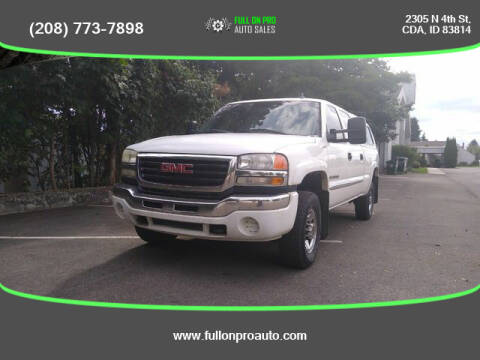 2007 GMC Sierra 2500HD Classic for sale at Full On Pro Auto in Coeur D'Alene ID