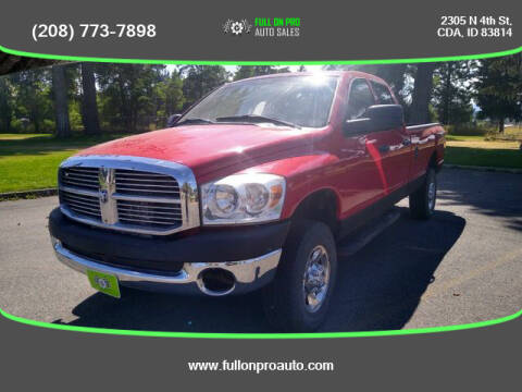 2008 Dodge Ram Pickup 2500 for sale at Full On Pro Auto in Coeur D'Alene ID