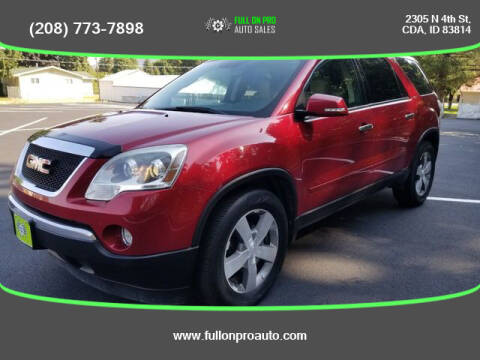 2012 GMC Acadia for sale at Full On Pro Auto in Coeur D'Alene ID