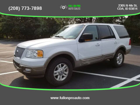 2003 Ford Expedition for sale at Full On Pro Auto in Coeur D'Alene ID