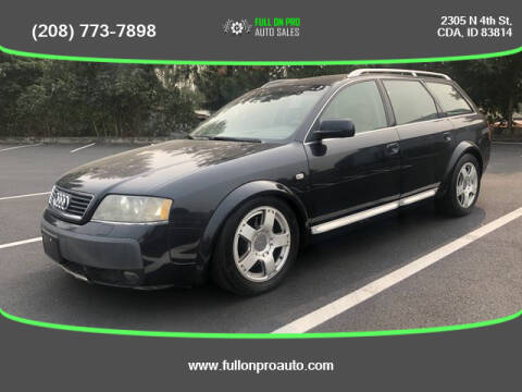 2005 Audi Allroad for sale at Full On Pro Auto in Coeur D'Alene ID