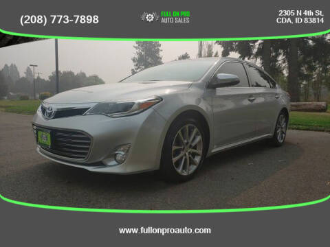 2014 Toyota Avalon for sale at Full On Pro Auto in Coeur D'Alene ID