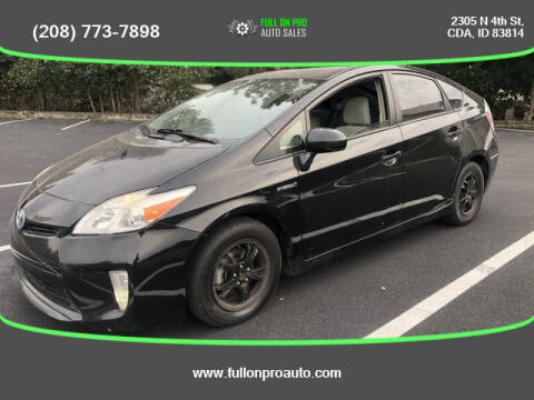 2014 Toyota Prius for sale at Full On Pro Auto in Coeur D'Alene ID