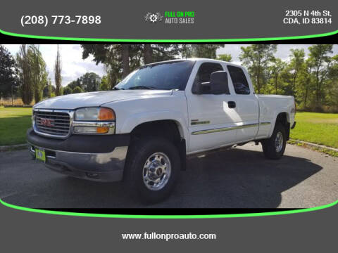2001 GMC Sierra 2500HD for sale at Full On Pro Auto in Coeur D'Alene ID