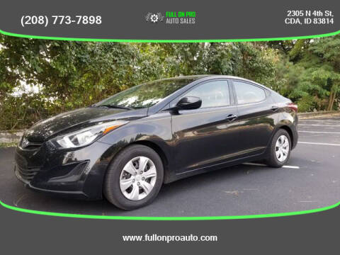 2016 Hyundai Elantra for sale at Full On Pro Auto in Coeur D'Alene ID