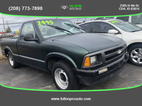 1996 Chevrolet S-10 for sale at Full On Pro Auto in Coeur D'Alene ID