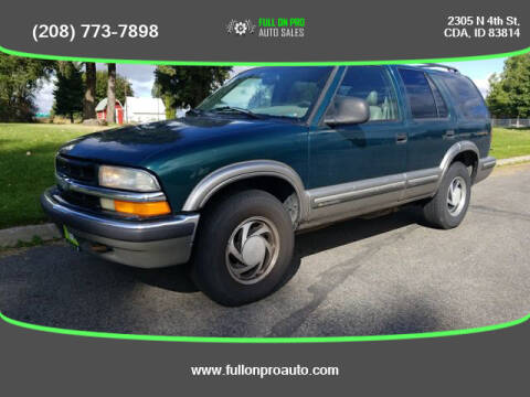 1998 Chevrolet Blazer for sale at Full On Pro Auto in Coeur D'Alene ID