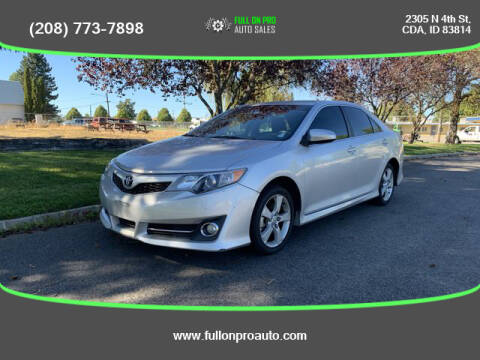 2013 Toyota Camry for sale at Full On Pro Auto in Coeur D'Alene ID