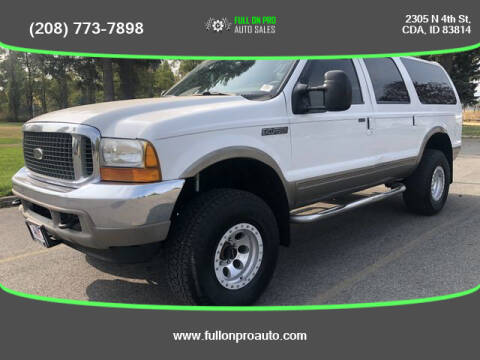2000 Ford Excursion for sale at Full On Pro Auto in Coeur D'Alene ID