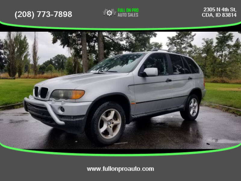 2001 BMW X5 for sale at Full On Pro Auto in Coeur D'Alene ID