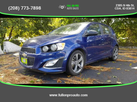 2014 Chevrolet Sonic for sale at Full On Pro Auto in Coeur D'Alene ID